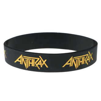 náramek gumový Anthrax - ROCK OFF, ROCK OFF, Anthrax