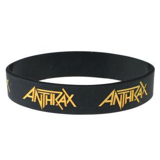 náramek gumový Anthrax - ROCK OFF, ROCK OFF, Anthrax