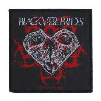 nášivka Black Veil Brides - Skull Heart - RAZAMATAZ, RAZAMATAZ, Black Veil Brides