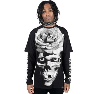 tričko unisex s dlouhým rukávem KILLSTAR - Dead Rose Double - BLACK, KILLSTAR