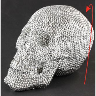 dekorace Skull - Silver - 78/5744 - POŠKOZENÁ, NNM