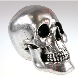 dekorace Skull - Silver - 78/5742 - POŠKOZENÁ, NNM