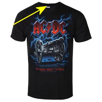 tričko pánské AC/DC - CANNON LIGHTNING - LIQUID BLUE - POŠKOZENÉ, LIQUID BLUE, AC-DC