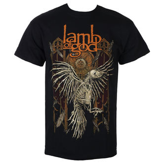tričko pánské Lamb Of God - Crow - Black - ROCK OFF, ROCK OFF, Lamb of God