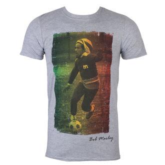 tričko pánské Bob Marley - Rasta Football - Grey - ROCK OFF, ROCK OFF, Bob Marley