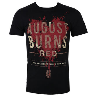 tričko pánské August Burns Red - Heart Filled - Blk - ROCK OFF, ROCK OFF, August Burns Red