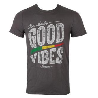 tričko pánské Bob Marley - Good Vibes - Charcoal - ROCK OFF, ROCK OFF, Bob Marley