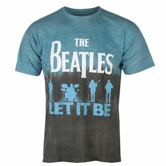 tričko pánské Beatles - Let It Be Split BLUE Dip-Dye - ROCK OFF, ROCK OFF, Beatles