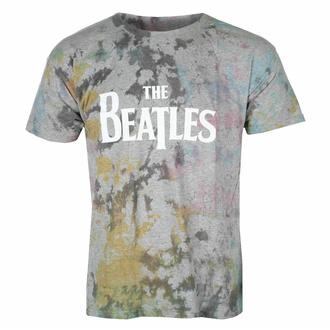 tričko pánské Beatles - Drop T Logo GREY Dip-Dye - ROCK OFF, ROCK OFF, Beatles