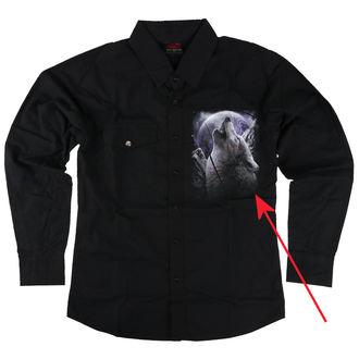 košile pánská s dlouhým rukávem SPIRAL - WOLF SOUL - POŠKOZENÁ, SPIRAL