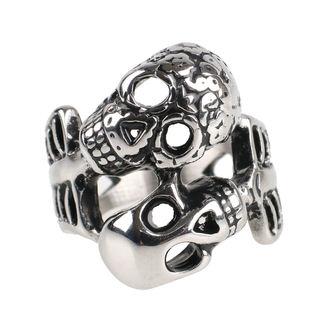 prsten ETNOX - Double Skull, ETNOX