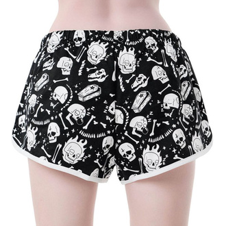 kraťasy dámské (pyžamo) KILLSTAR - Drowsy - BLACK, KILLSTAR