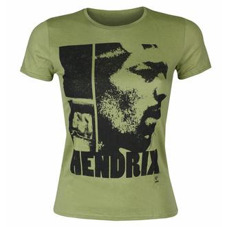tričko dámské Jimi Hendrix - Let Me Live Scoop - KHAKI - ROCK OFF, ROCK OFF, Jimi Hendrix