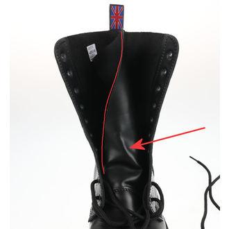 boty NEVERMIND - 10 dírkové - Black Polido - POŠKOZENÉ, NEVERMIND