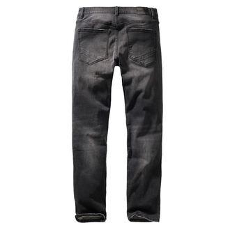 kalhoty pánské BRANDIT - Rover - Black denim - slim fit, BRANDIT