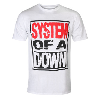 tričko pánské System Of A Down - Triple Stack - WHT - ROCK OFF - SOADTS12MW