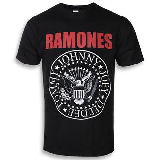 tričko pánské RAMONES - RED TEXT SEAL LOGO - PLASTIC HEAD, PLASTIC HEAD, Ramones