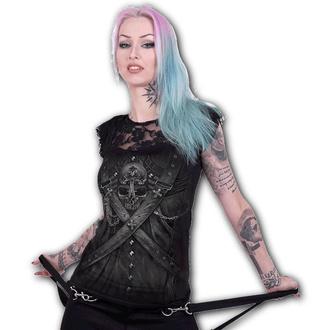 tričko dámské SPIRAL - STRAPPED - Black - T176F721