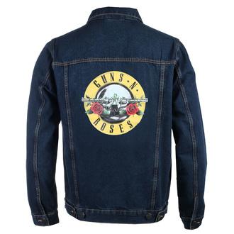 bunda pánská Guns N' Roses - Classic Logo - DENIM - ROCK OFF, ROCK OFF, Guns N' Roses