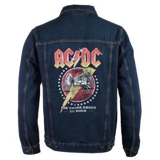 bunda pánská AC/DC - About To Rock - DENIM - ROCK OFF, ROCK OFF, AC-DC