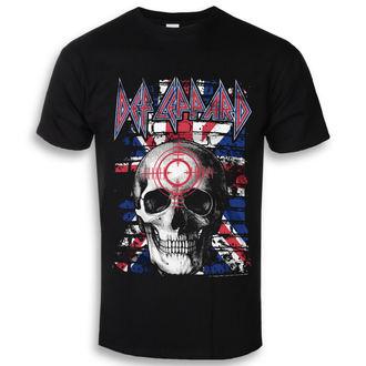 tričko pánské Def Leppard - Union Jack Skull - Black - HYBRIS, HYBRIS, Def Leppard