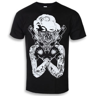 tričko pánské Marilyn Monroe - Gangsta Pose - Black - HYBRIS - AB-1-17543-L104-BK