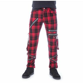 kalhoty pánské CHEMICAL BLACK - ETIENNE - RED TARTAN, CHEMICAL BLACK