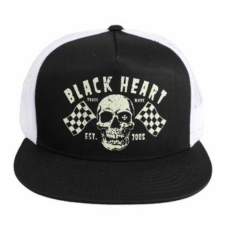 kšiltovka BLACK HEART - FLAG - WHITE - 8633