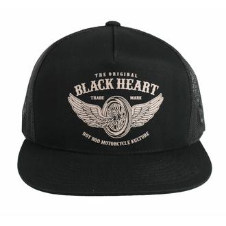 kšiltovka BLACK HEART - WINGS - BLACK, BLACK HEART