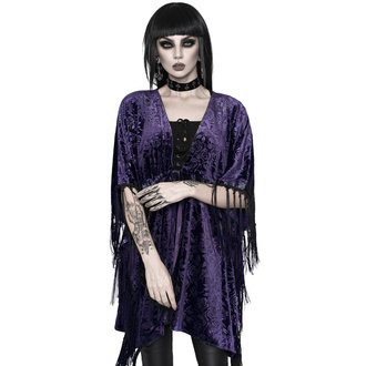 přehoz dámský KILLSTAR - Fang Velvet Kimono - PLUM - KSRA002722