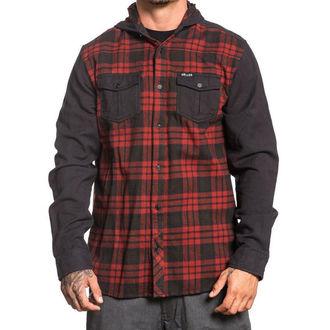 košile pánská SULLEN - FLINT - BLACK/RED, SULLEN