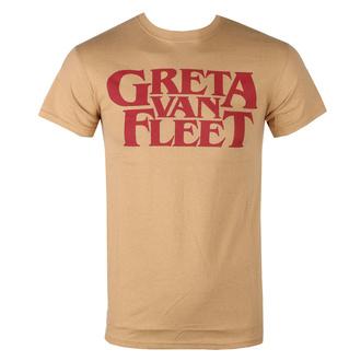 tričko pánské Greta Van Fleet - Logo - OLD GOLD - ROCK OFF, ROCK OFF, Greta Van Fleet