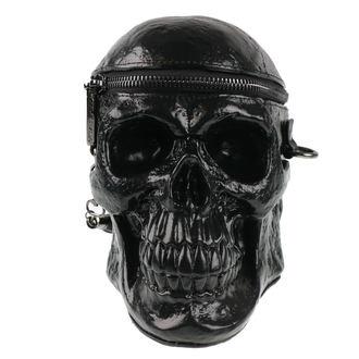taška (kabelka) KILLSTAR - Grave Digger Skull - Black - POŠKOZENÁ, KILLSTAR
