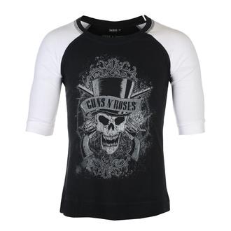 tričko unisex s 3/4 rukávem Guns N' Roses - Faded Skull - BL/WHT Raglan - ROCK OFF, ROCK OFF, Guns N' Roses