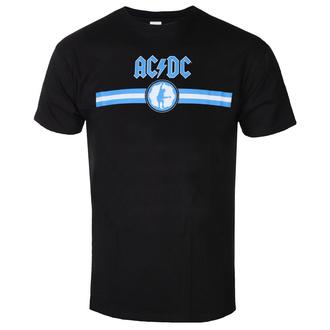 tričko pánské AC/DC - Blue Logo & Stripe - BL - ROCK OFF, ROCK OFF, AC-DC