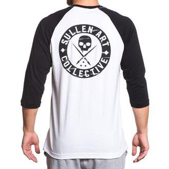 tričko pánské s 3/4 rukávem SULLEN - BOH RAGLAN - WHITE/BLACK, SULLEN