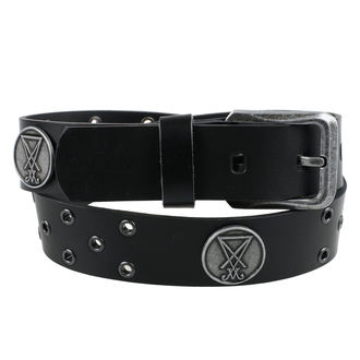 pásek Luciferi - Black, Leather & Steel Fashion