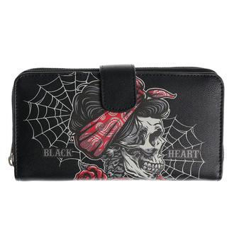 peněženka BLACK HEART - PIN UP SKULL - 8072