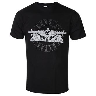 tričko pánské Guns N' Roses - Circle Logo Diamante - ROCK OFF, ROCK OFF, Guns N' Roses