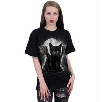 tričko unisex SPIRAL - BAT CAT - Black, SPIRAL