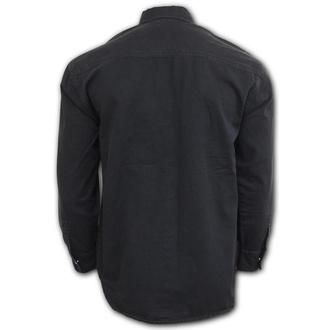 košile pánská SPIRAL - METAL STREETWEAR - Black, SPIRAL