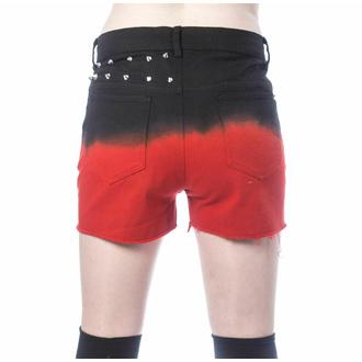 kraťasy dámské VIXXSIN - GAIA - BLACK/RED - POI1010