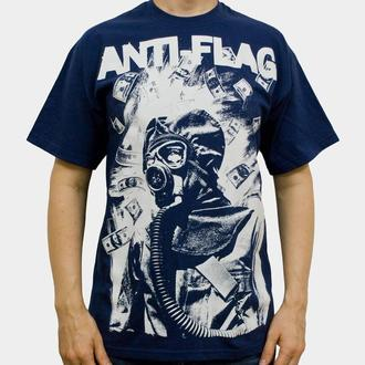 tričko pánské Anti Flag (Gasmask) - KINGS ROAD - Blue Navy - 00160