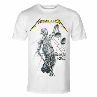 tričko pánské METALLICA - AND JUSTICE FOR ALL - WHITE - PLASTIC HEAD - PHDMTLTSWJUS
