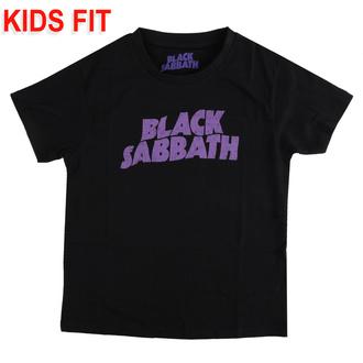 tričko dětské Black Sabbath - Wavy Logo - ROCK OFF, ROCK OFF, Black Sabbath