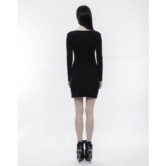 šaty dámské PUNK RAVE - Serena - WQ-343/BK