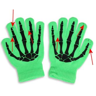 rukavice POIZEN INDUSTRIES - BGG - N.Green - POŠKOZENÉ - MA072