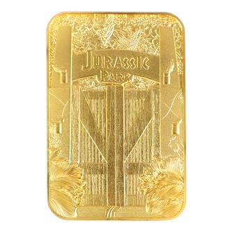 dekorace Jurský park - Card Metal Entrance Gates - gold plated, NNM, Jurský park