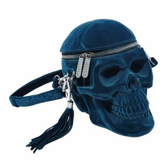 kabelka (taška) KILLSTAR - Grave Digger Skull - BLUE - KSRA003091