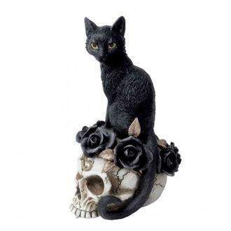dekorace ALCHEMY GOTHIC - Black Cat & Skull, ALCHEMY GOTHIC